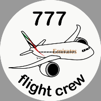 B-777 Emirates Sticker