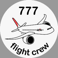 B-777 JAL Sticker