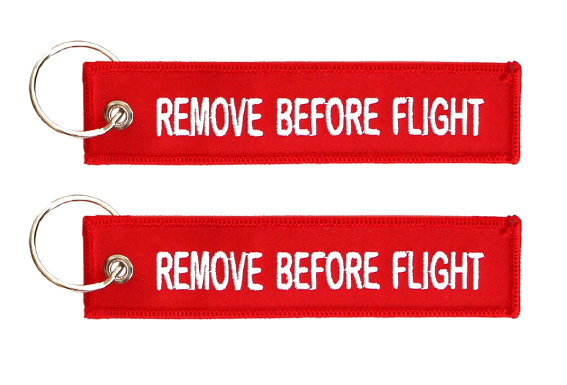 Llavero Remove Before Flight Classic key tag