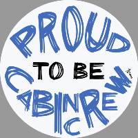 Proud to be Cabin Crew Sticker