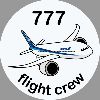 B-777 ANA Sticker