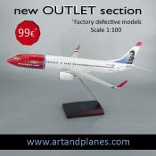 OUTLET Maqueta/Model Boeing 737 Norwegian 1:100
