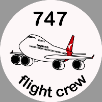 B-747 Qantas Sticker