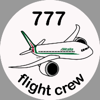 B-777 Alitalia Sticker