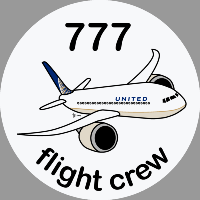 B-777 United Sticker