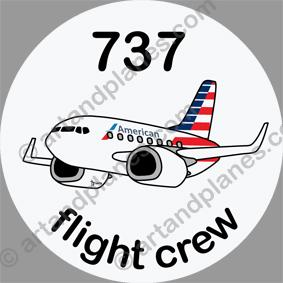 B-737 American Airlines Sticker