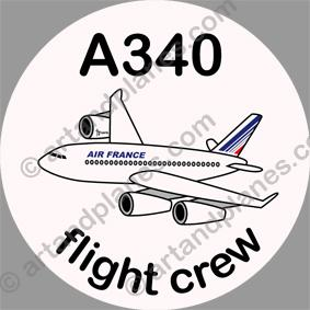 A340 Air France Sticker