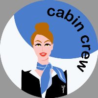 Cabin crew (blue) Sticker