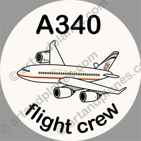 A340 Etihad Sticker