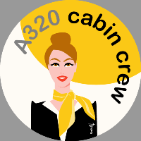 Cabin crew (yellow) Sticker