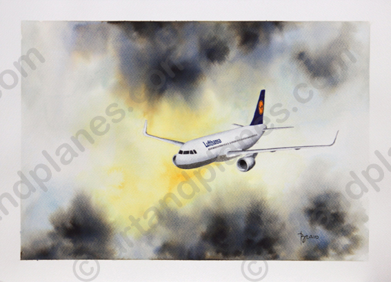 A320 Lufthansa I Painting