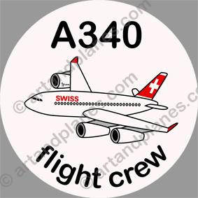 A340 Swissair Sticker