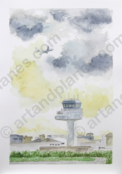 Lisbon Control Tower Painting