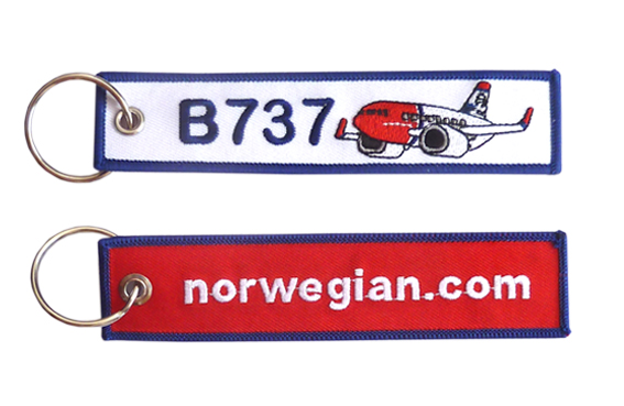 Llavero B-737 Norwegian Key tag