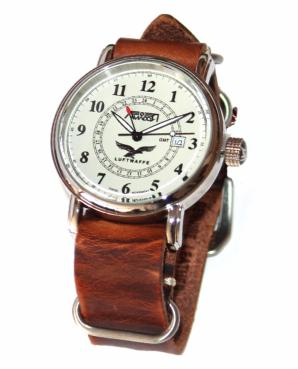 Reloj Aviador Luftwaffe (marrón)