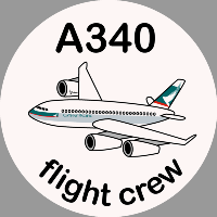 A340 Cathay Pacific Sticker