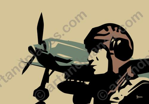Ilustración WWII pilot - Illustration
