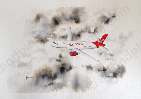 A320 Virgin America Painting