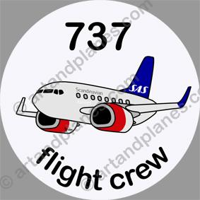 B-737 SAS Sticker