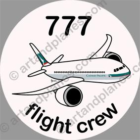 B-777 Cathay Pacific Sticker