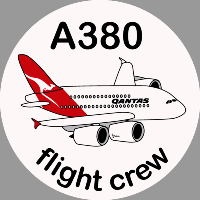 A380 Qantas Sticker