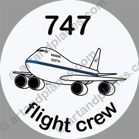 B-747 Sofia Sticker