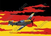 Ilustración Deutschland - Messerschmitt (Serie Banderas/Flag series Print) - Illustration