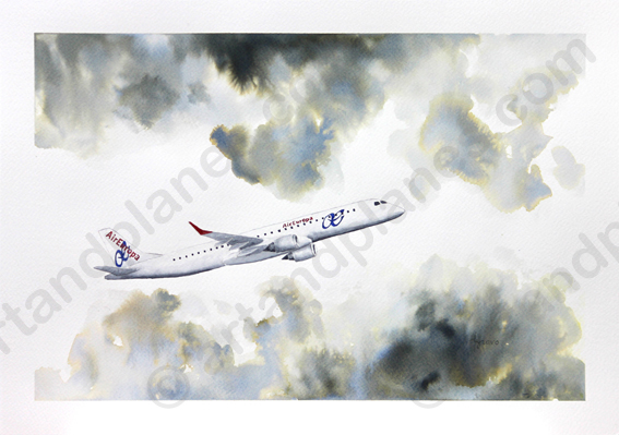 Embraer 195 Air Europa Painting