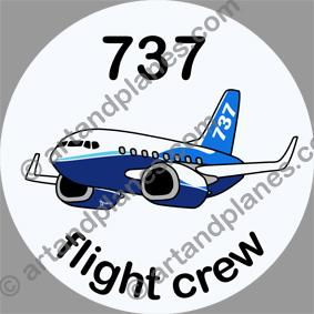 B-737 Boeing Sticker