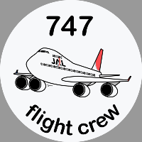 B-747 Jal Sticker