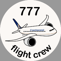 B-777 Continental Sticker