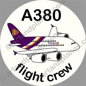 A380 Thai Airways Sticker
