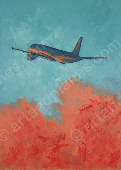 Coral highlights on A320 Painting