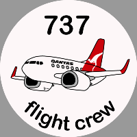 B-737 Qantas Sticker
