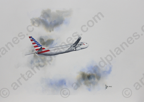 B737 American Airlines Painting