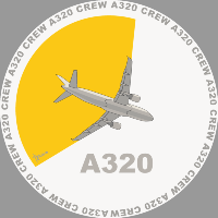 A320 yellow trail Sticker