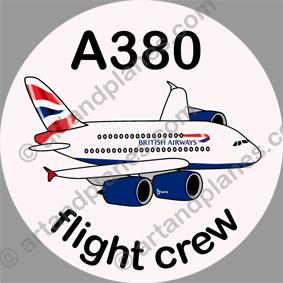 A380 British Airways Sticker