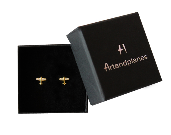 Pendientes dorados ALVEDRO / golden earrings (Plata/Silver)