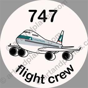 B-747 Cathay Pacific Sticker