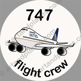 B-747 United Sticker
