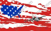 Ilustración USA - F16 (Serie Banderas/Flag series Print) - Illustration