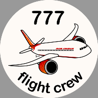 B-777 Air India Sticker