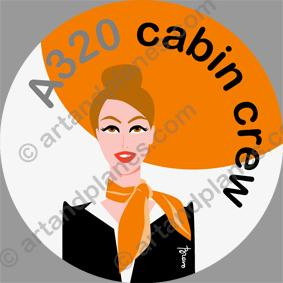 Cabin crew (orange) Sticker