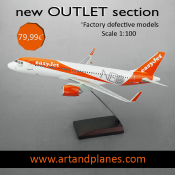 OUTLET Maqueta/Model A320 NEO easyJet 1:100