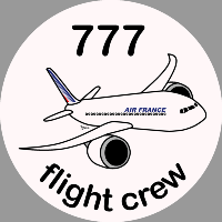 B-777 Air France Sticker