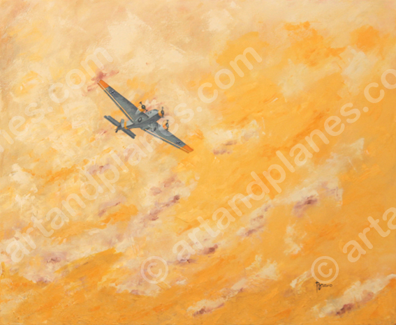Junkers JU-52 Oil Painting