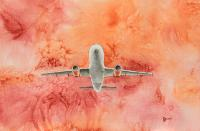 Full orange easyJet Painting