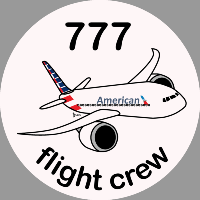 B-777 American Airlines Sticker