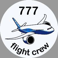 B-777 Boeing Sticker