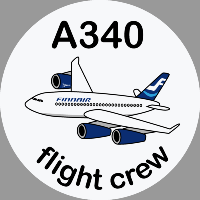 A340 Finnair Sticker